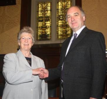 The President of Tynwald, the Hon Clare Christian with Mr Robert Carswell (Piture: Paul Dougherty Tynwald Seneschal)