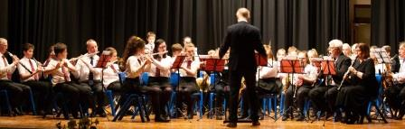 QE11 High School Wind Band conducted by John Kinley, pictured in April 2019