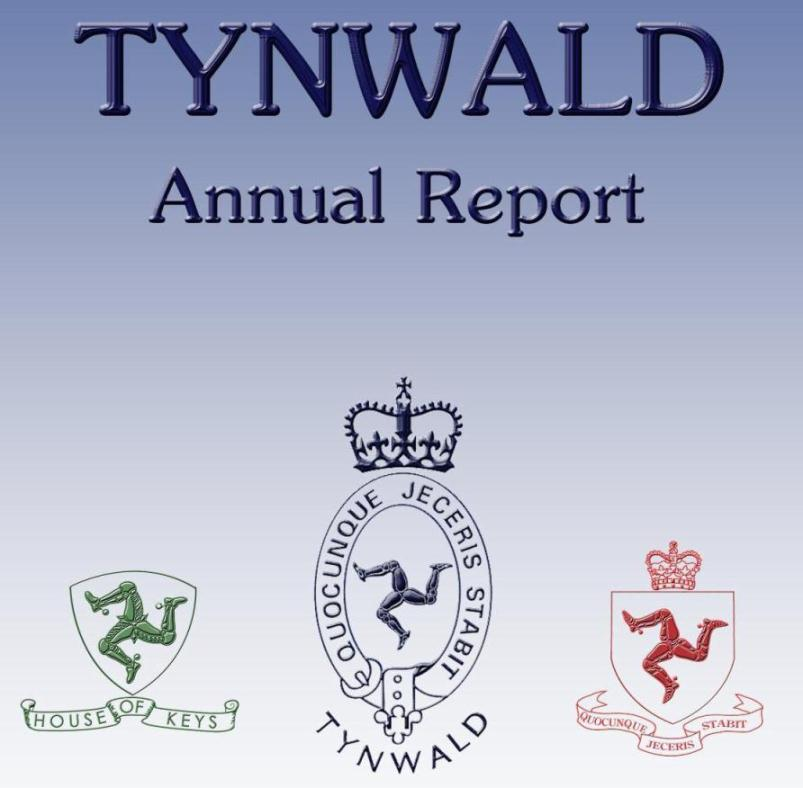 Tynwald Annual Report Front Pager