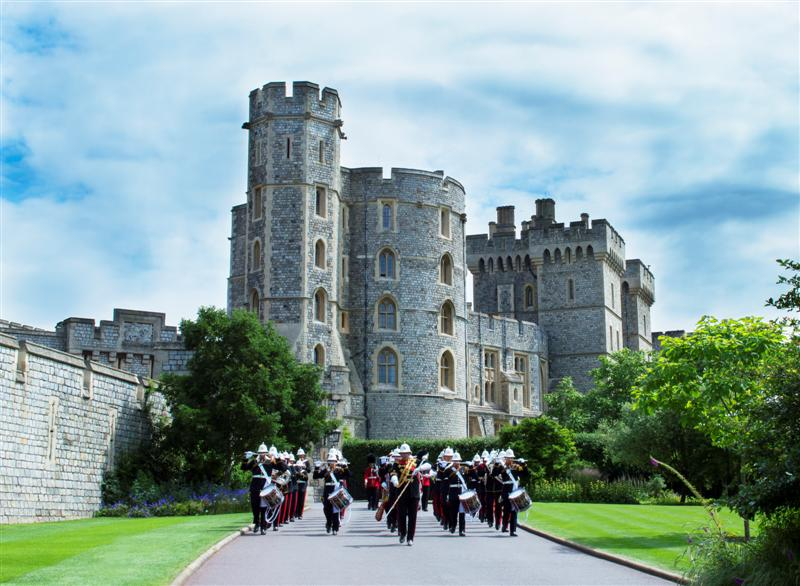 HM Royal Marines Collingwood playing at Windsor Castle